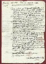Manoscritto Stato Libero Bernardo Mantegazza di Rivabosco Rivalta di Torino 1702
