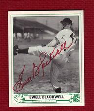 EWELL BLACKWELL Autograph Auto Signed 1947 Playball Reprint Cincinnati Reds