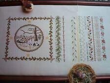 Victorian WINTER Season Magazine Cross Stitch Pattern (D)