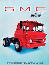 1969 GMC Truck Series Tilt Semi Cab Original Sales Brochure Catalog