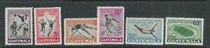 GUATEMALA 1950 6th CARIBBEAN GAMES (Scott C171-176) VF MNH