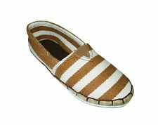 NEW! AVA WOMEN'S ESPADRILLE FLATS/ SHOES (BROWN STRIPES, SIZE #5)