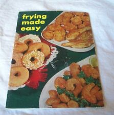 VINTAGE FRYING MADE EASY SPRY VEGETABLE SHORTENING COOK  BOOKLET ORIGINAL ENGLIS