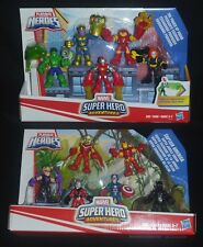 POWER UP & SUPER JUNGLE SQUADS Marvel Playskool Heroes w Thanos & Black Panther