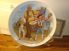 "BRADFORD EXCHANGE ""The Patriots Parade"" 1985 Vintage Collectible Fine China"
