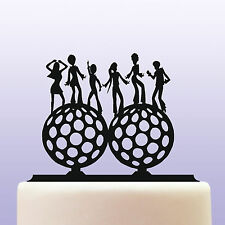 Acrylic Disco Dancers On Disco Balls Cake Topper Decoration