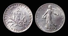 2 Francs 1914 Côte SUP 60€ - Argent 10 gr