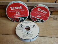 Scotch Brand Vintage 1960s Electrical Tape No 23 Tin     Full & No 88 Tin Empty