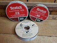 Scotch Brand Vintage 1960s Electrical Tape No 23 Tin     Full & No 88 Tin Empty