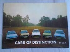 Opel range brochure Oct 1976