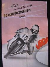 Flyer NS (Nederlandse Spoorwegen) TT Motorraces Assen 27 juni 1981  (TTC)