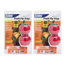 TERRO FRUIT FLY TRAPS NON TOXIC TRAP  T2502 INSECT  2 PACKS OF 2