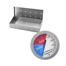 Termometro + Scatola Fumatore Per Barbecue E Affumicatore A Temparatura