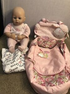 Anabell Baby Bundle Doll Interactive Sleeps Cries Face Moving Zaps Creation 2012