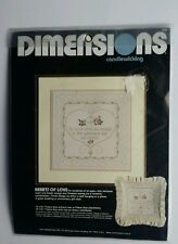 Dimensions Hearts Of Love Candlewicking Pillow Picture Kit #4120 Doves