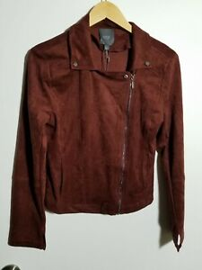 1 NWT LYSSE WOMEN'S MOTO JACKET, SIZE: SMALL, COLOR: NOCTURNAL RED (J260)