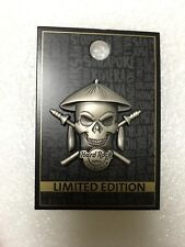 "New 2017 China Hard Rock Hotel Shenzhen ""Silver 3D skull"" Pin"