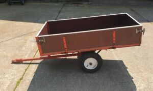 Tipping Trailer For  Garden Tractor/ Ride On Mower/ Drop Down/ Removable sides