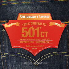Levis 501 CT Jeans Mens Button Fly Size 34 x 34 DARK BLUE WITH FADE Tapered Leg