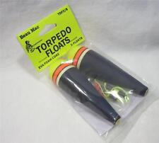 Beau Mac Torpedo Floats 3/8 oz EVA Foam Core w/Stops/Beads Fishing Bobbers New