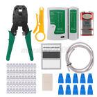 Network Ethernet LAN Tool Set Kit RJ45/11 Cat5 Cat6 Cable Tester Crimping Crimp