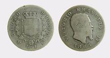 pci4508) VITTORIO EMANUELE II (1861-1878) 1 LIRA STEMMA 1863 MI AR