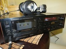 PIONEER CT-A7D CT-A7X 3 HEAD REFERENCE MASTER STEREO CASSETTE DECK 1985 TOP MODE