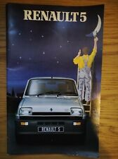 Renault 5 Range Brochure Dec 1981, Colourful, Rare