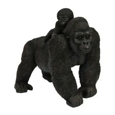 More details for lrg gorilla and baby, figurine, boxed, new, ornament, naturecraft