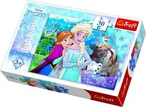 Trefl 30 Piece Kids Girls Large Disney Frozen Unleash The Magic Jigsaw Puzzle