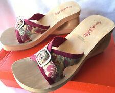 Skechers Spirals 3901 Somethin' Else Buckle Slip-On Wedge Sandals Women's 10 new