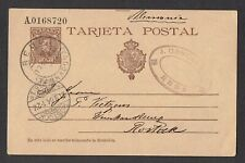 SPAIN 1904 postcard used to Rostock. Look!!!