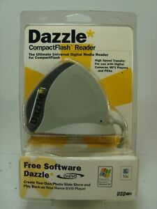 Dazzle High Speed Transfer CompactFlash Reader (DM8000) New Sealed