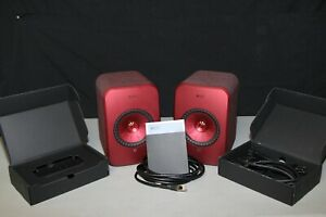 KEF LSX Wireless Music System -Red - Good Condition