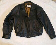 California L.A. Leather Men's Large Black Leather Jacket, Budweiser Logo Vintage