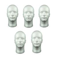 5 Pcs 52 cm Mâle Mannequin Tête Cosmétique Perruque Mousse pour Lunettes
