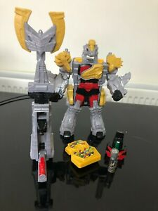 Power Rangers Dino charge Titano Megazord plus silver charger complete toy