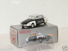 Miniabox DS 19 POLICE dinky car designed By Minialuxe France 1/66è Ref MB100_4SE