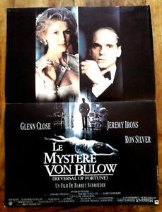 Le mystère Von Bullow - Glenn CLOSE / Jeremy IRONS - Affiche Cinéma (40x60)
