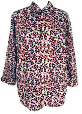Westbound Womam Size 18W Blouse Wrinkle Free Multicolored Button Down 3/4 Sleeve