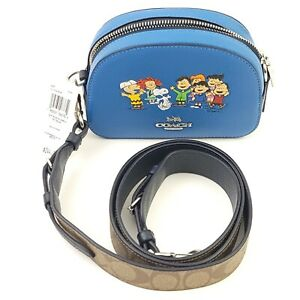 Coach x Peanuts 6490 Mini Serena Crossbody Snoopy & Friends NWT