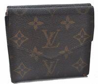 Authentic Louis Vuitton Monogram Porte Monnaie Billets Wallet M61660 LV A9636