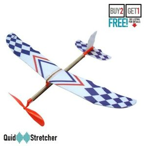 Plane Airplane Model Kids Toy Rubber Band Elastic Flying Glider Toy UK