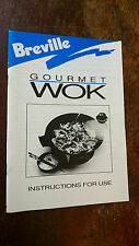 breville GOURMET WOK instructions & recipes PB