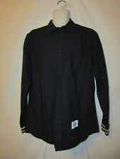 mens ecko unltd button front shirt L nwt black athetic styling 72