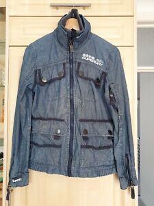 Ladies Superdry Patrol Jacket Lite Multi Pocket Blue  Small