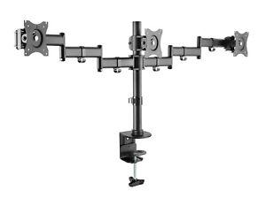 Triple LED Monitor Schwenkarm Tisch Halterung Halter Bildschirm Ständer 3x 8KG