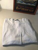 J FERRAR Mens Shirt Ribbed Crew Neck Short Sleeve  Black Size XL
