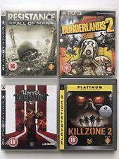 PS3 Game Bundle -Borderlands 2 +Killzone 2+Unreal Tournament U+Resistance  (985)