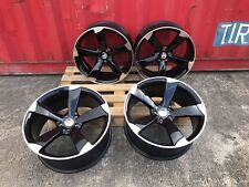 "4 x 20"" NEW Audi RS7 TTRS STYLE ALLOY WHEELS RS6 RS4 A5 A6 A7 A8 Q7 Q5 BLK POL"